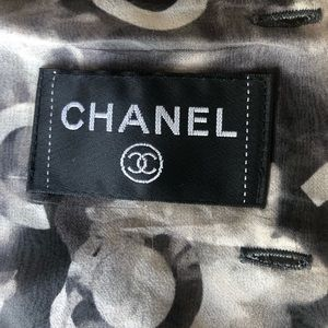 Chanel top  layered silk chiffon